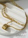 Safe Bet Dice Double Chain Necklace
