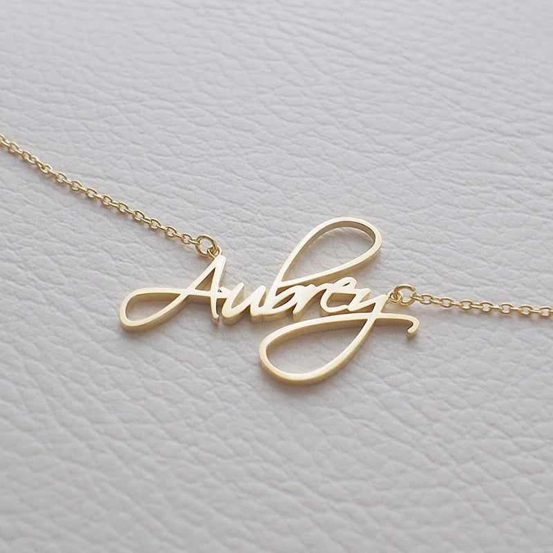 Personalized Custom Name Necklace CURSIVE Font