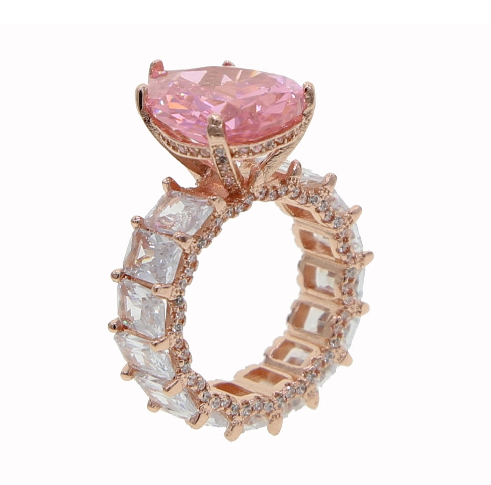 Wifey Material Pink and Rose Gold Ring