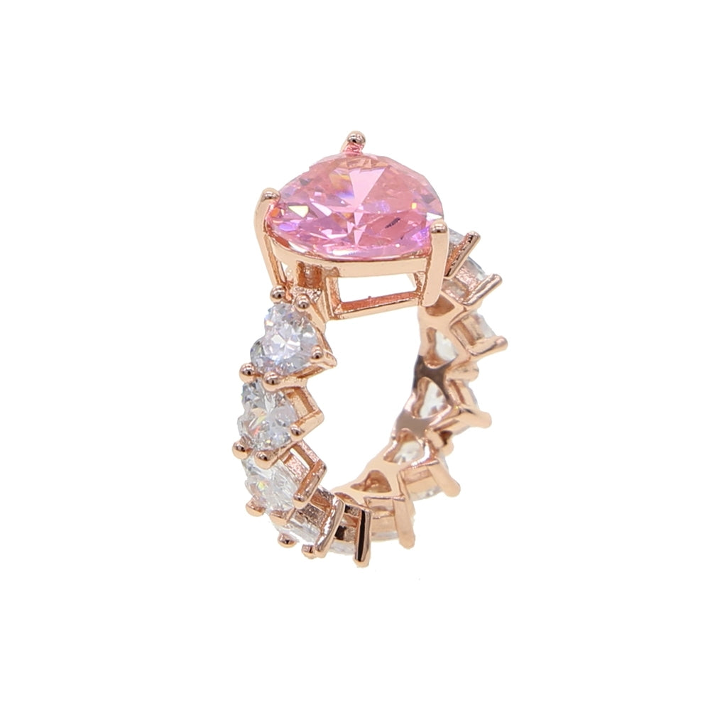 Valentine's Day Wifey Material Heart Pink and Rose Gold Ring