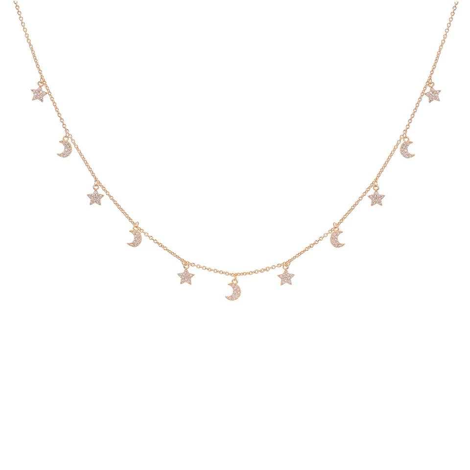 Celestial Bodies Floating Necklace