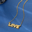 Retro Crystal LOVE Necklace