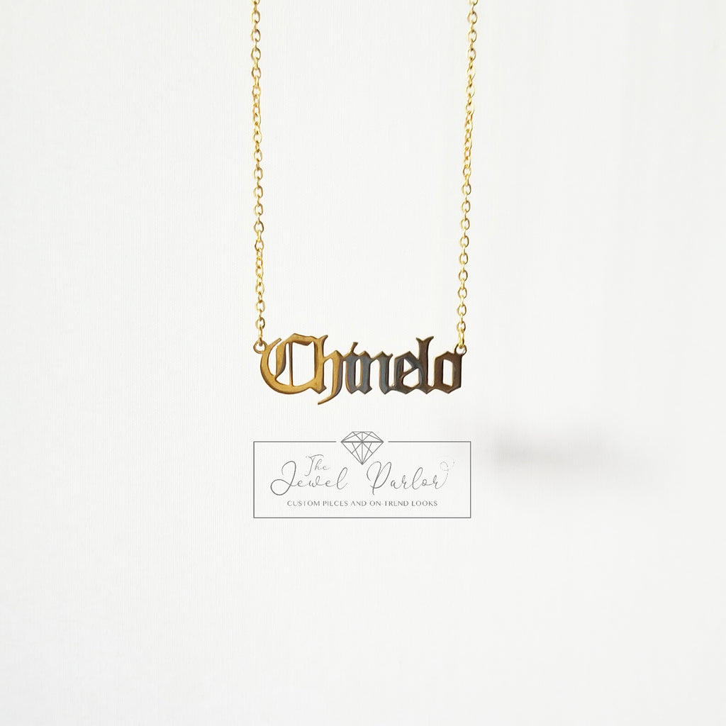 Personalized Custom Name Necklace OLD ENGLISH