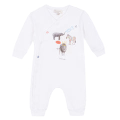 Paul Smith Junior - Baby Boys White 'Rolin' Playsuit