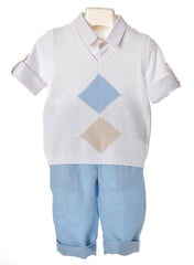 Bimbalo - Boys Shirt, Gilet & Shorts Set
