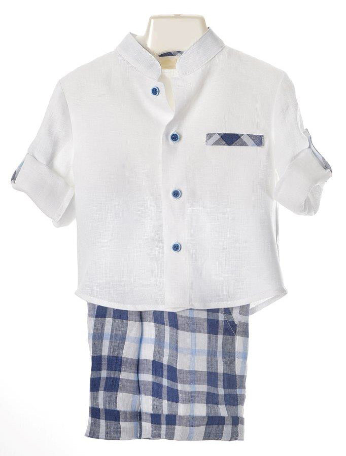 Bimbalo - Boys Linen Shirt & Shorts Set
