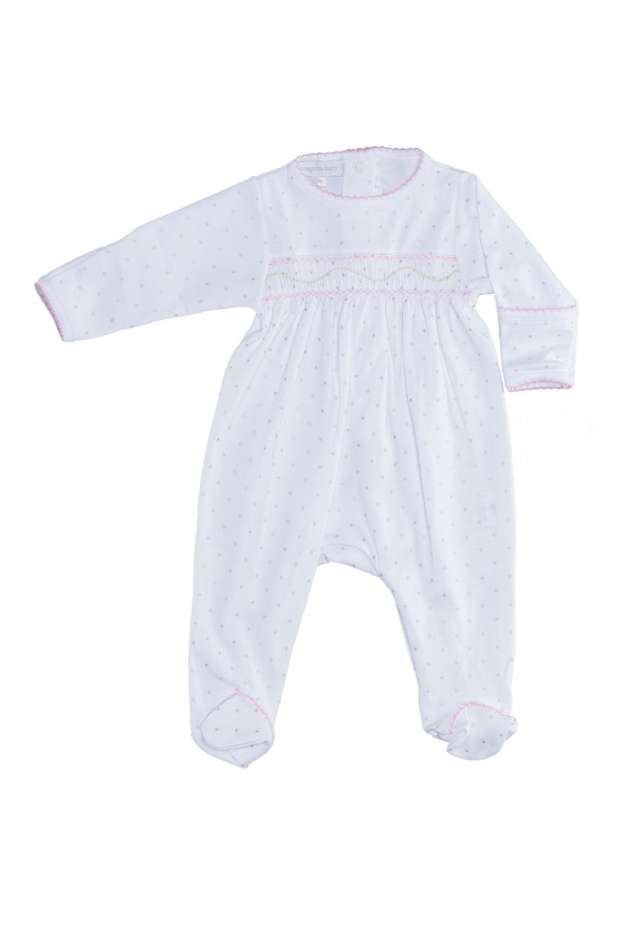 Magnolia Baby - Sweet Girl Smocked Footie