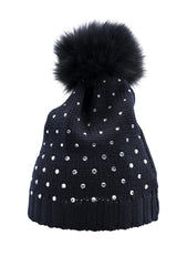 Bimbalo 'Cappello' Navy Embellished Hat