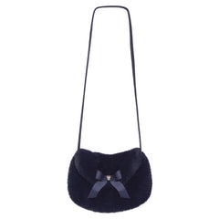 Tartine Et Chocolat - Navy Blue Faux-fur Handbag