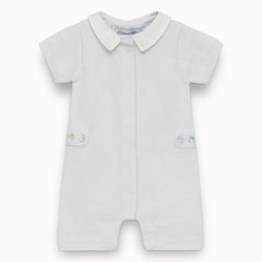 Tartine et Chocolat - Sky Blue Hedgehog Romper Suit