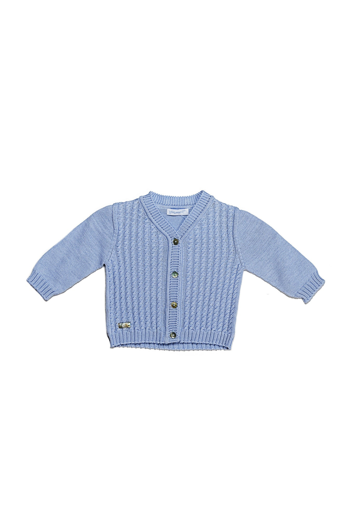 Laranjinha - Sky Blue Cable Knit Cardigan