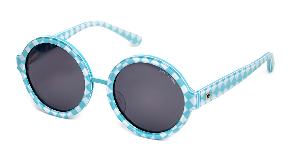 ZooBug - Round Blue Diamond Sunglasses