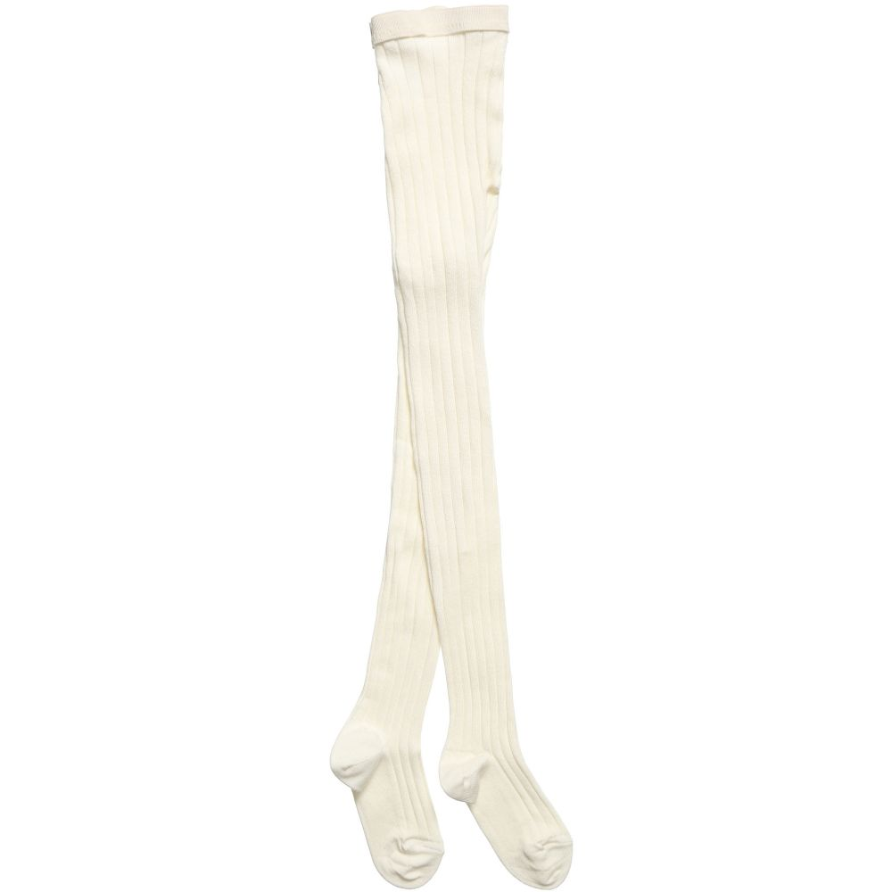 Dore Dore - Ivory Ribbed Tights