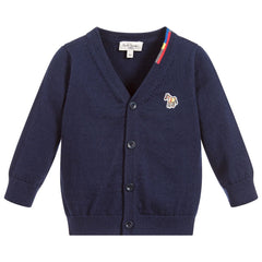 Paul Smith Junior - Baby Boys Navy blue 'Robinson' Cardigan