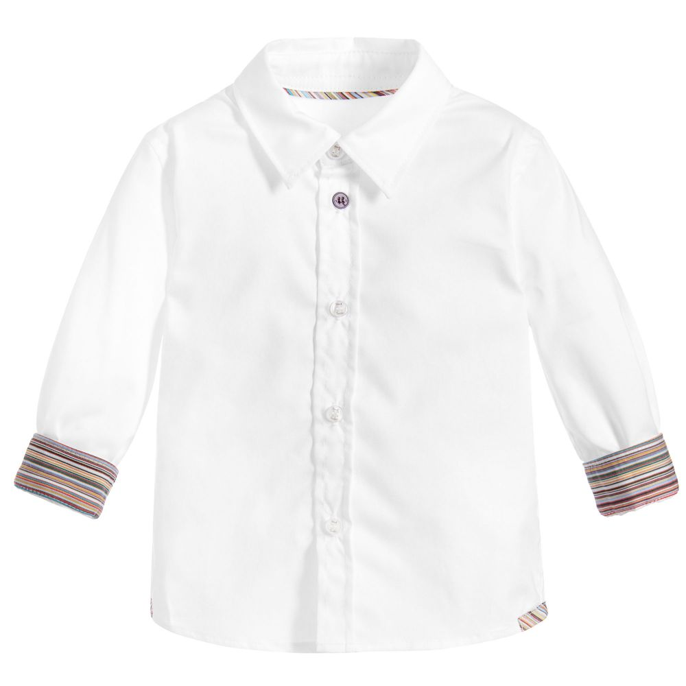 Paul Smith Junior - White Neader Shirt