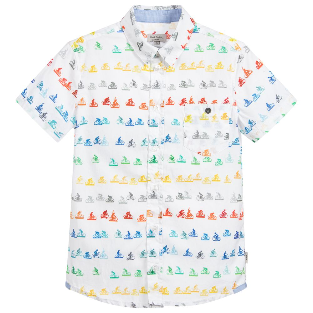 Paul Smith Junior - Boys White 'Ralph' Shirt
