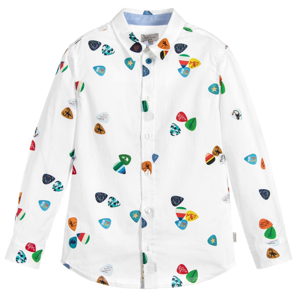 Paul Smith Junior - Boys White 'Ruffin' Shirt