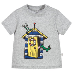 Stella McCartney Kids - Baby Boys Grey 'Chuckle' T.Shirt