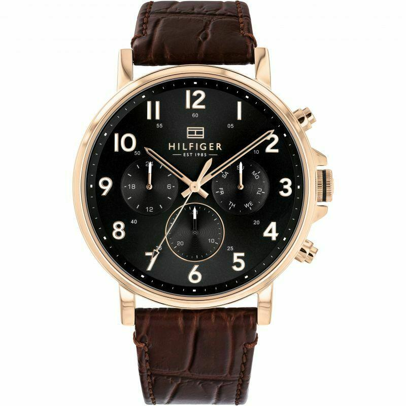 Mens Black Chronograph Tommy Hilfiger Watch 1710379
