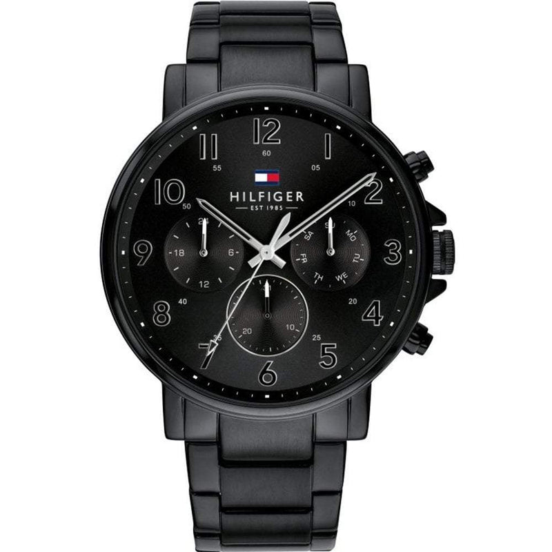 Mens Black Chronograph Tommy Hilfiger Watch 1710383