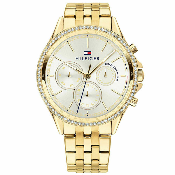 Ladies Gold Diamond Chronograph Tommy Hilfiger Watch 1781977