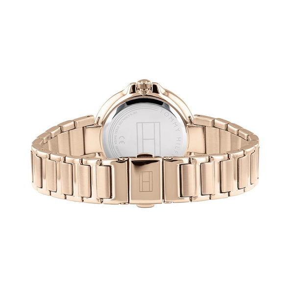 Ladies / Womens Angela Rose Gold Stainless Steel StrapTommy Hilfiger Designer Watch 1782124