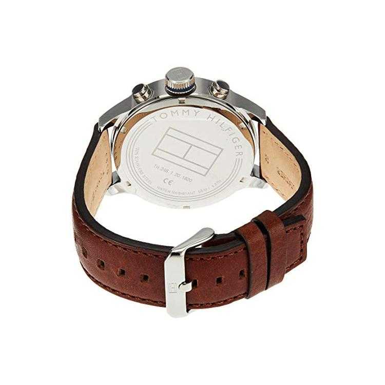 Mens / Gents Trent Two Tone Brown Leather Strap Tommy Hilfiger Designer Watch 1791137