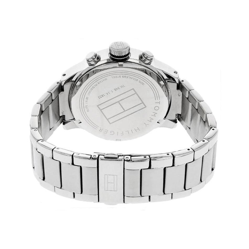 Mens / Gents Cool Sport Silver Stainless Steel Chronograph Tommy Hilfiger Designer Watch 1791141