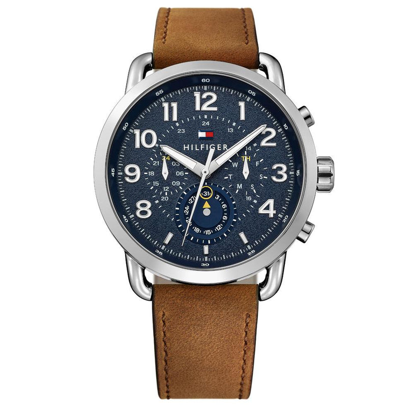 Mens / Gents Briggs Brown Leather Strap Tommy Hilfiger Designer Watch 1791424