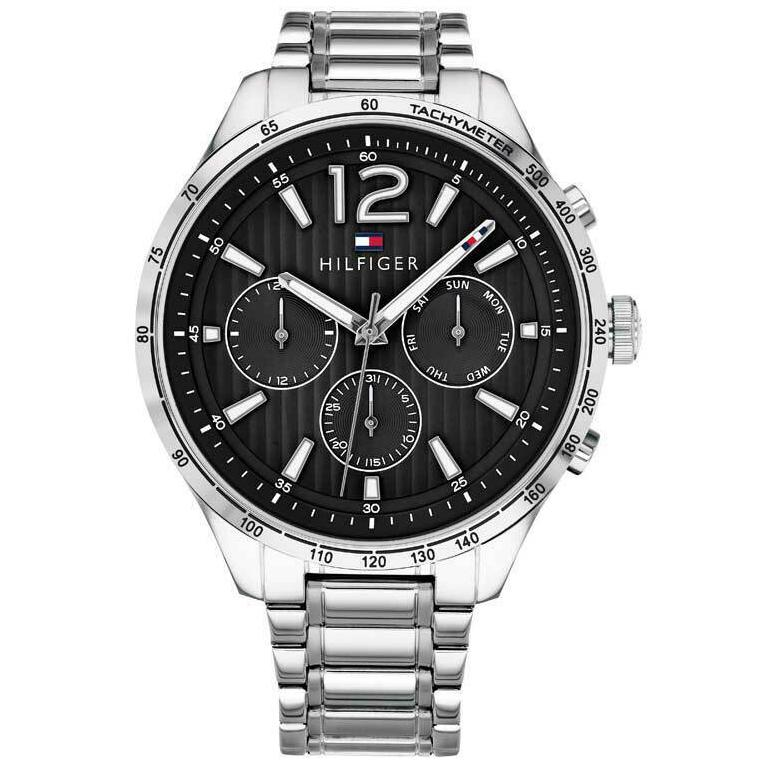 Mens Black Chronograph Tommy Hilfiger Watch 1791469