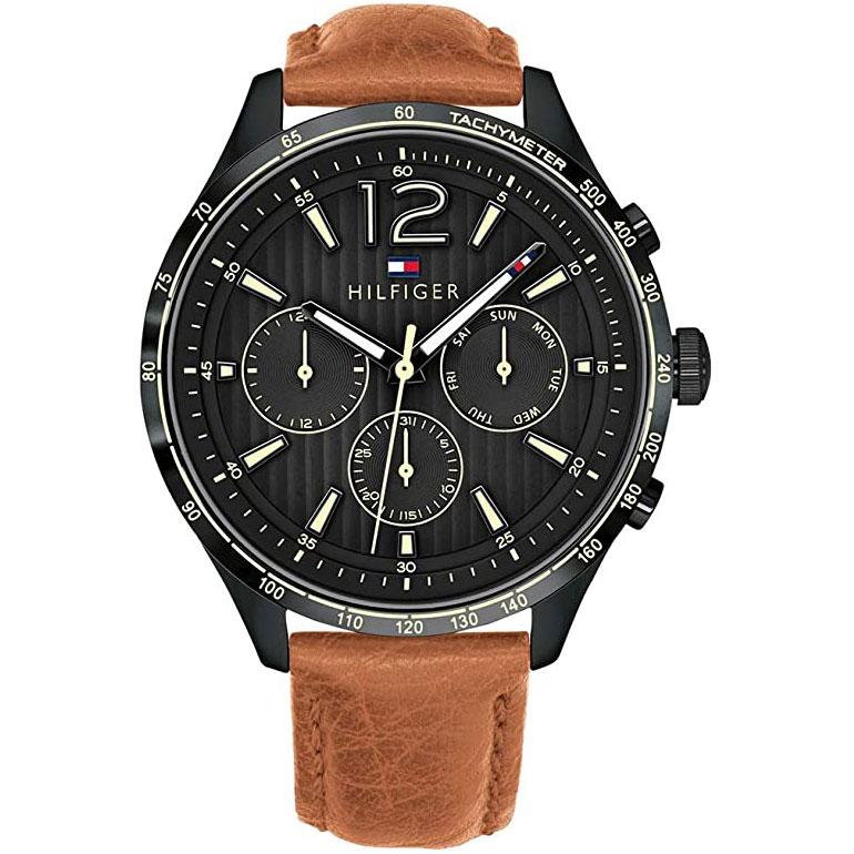 Mens / Gents Gavin Brown Leather Chronograph Tommy Hilfiger Designer Watch 1791470
