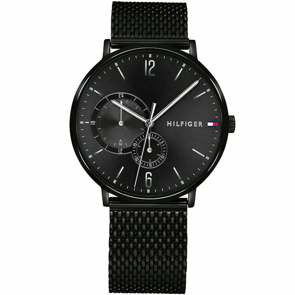 Mens Black Multi Function Tommy Hilfiger Watch 1791507
