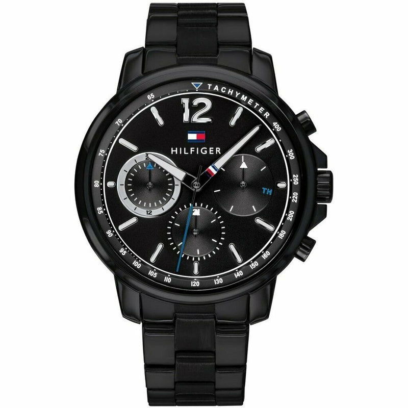 Mens Black Chronograph Tommy Hilfiger Watch 1791529