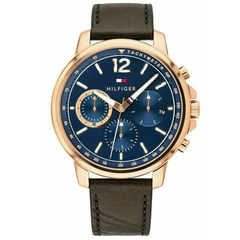 Mens Gold Strap Chronograph Tommy Hilfiger Watch 1791532