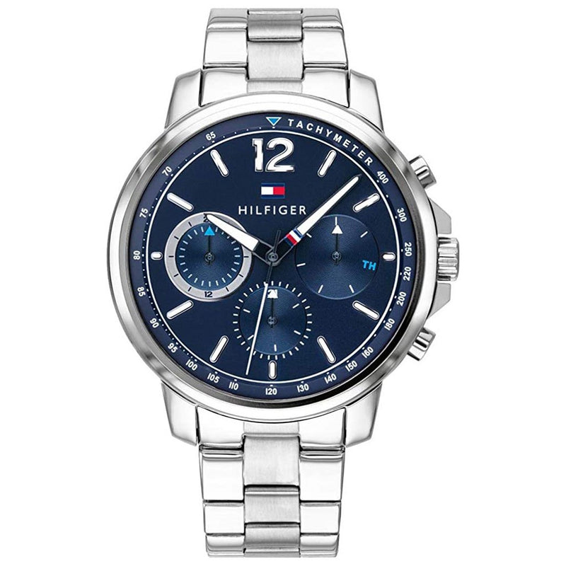 Mens / Gents Blue & Stainless Steel Chronograph Tommy Hilfiger Designer Watch 1791534