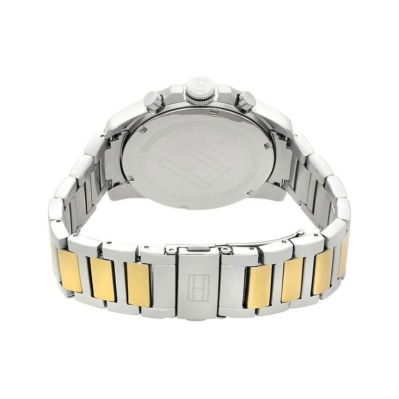 Mens / Gents Silver & Gold Stainless Steel Tommy Hilfiger Designer Watch 1791559
