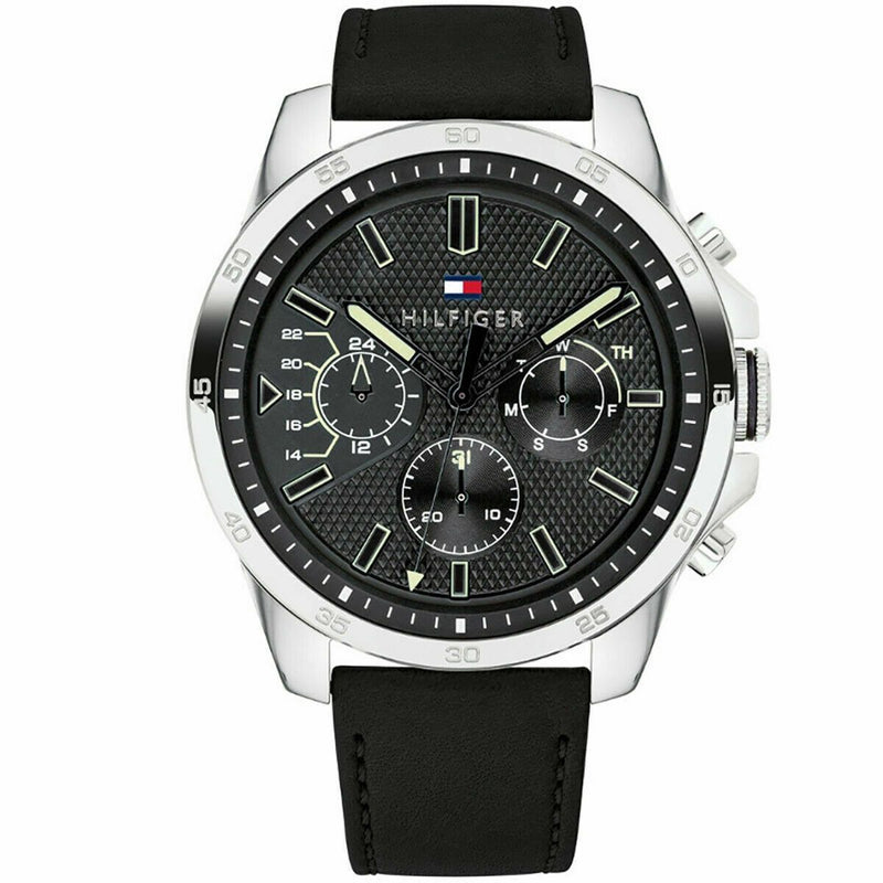 Mens Black Chronograph Tommy Hilfiger Watch 1791563