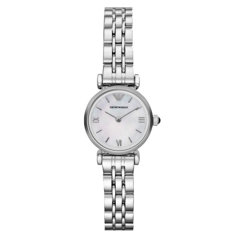 Ladies / Womens Mother Of Pearl Dial Stainless Steel Emporio Armani Designer Watch AR1763