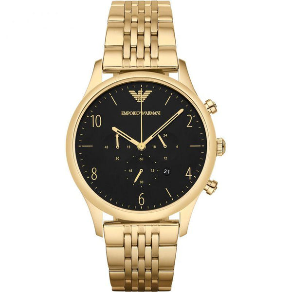 Mens Gold Chronograph Stainless Steel Emporio Armani Watch AR1893