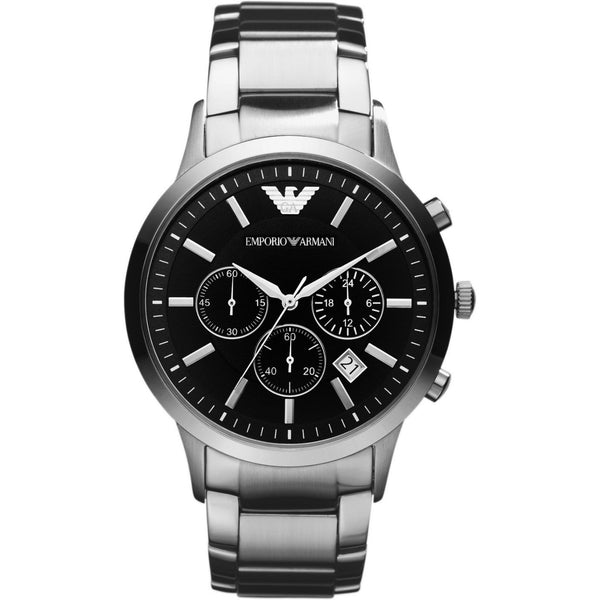 Mens Classic Stainless Steel Chronograph Emporio Armani Watch AR2434