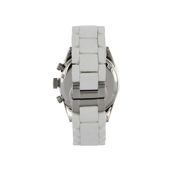 Ladies / Womens White Chronograph Emporio Armani Designer Watch AR5867