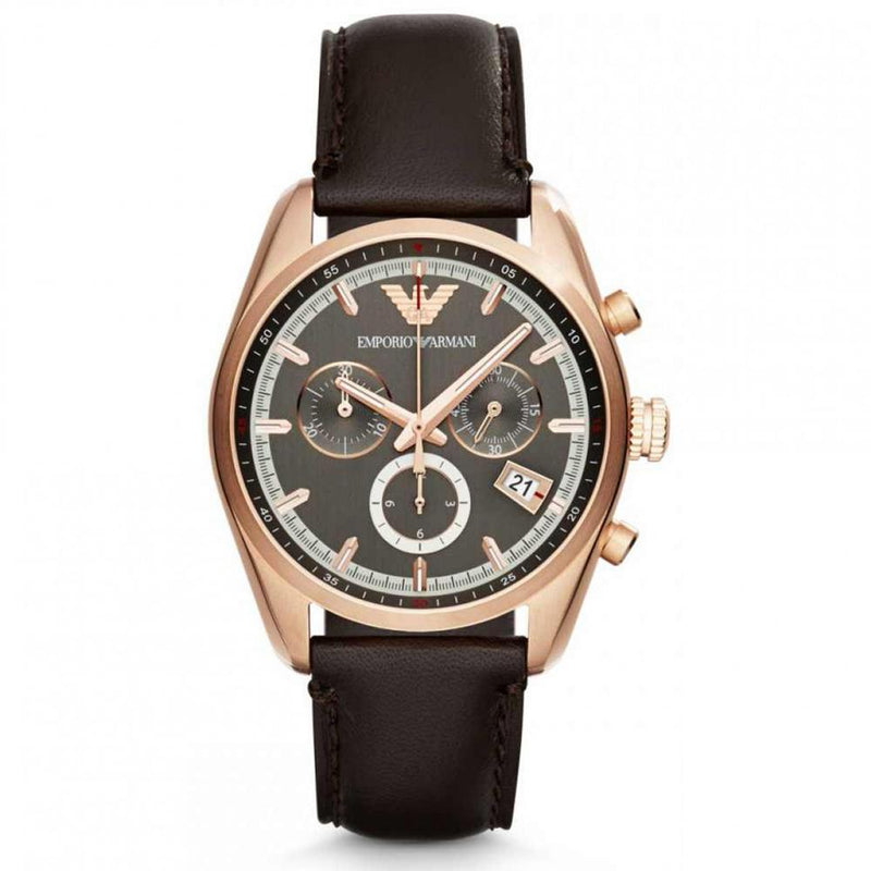 Mens / Gents Sportivo Rose Gold Stainless Steel Emporio Armani Designer Watch AR6043
