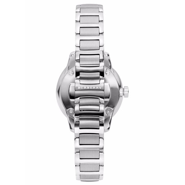 Ladies / Womens Silver The Classic Stainless Steel Burberry Designer Watch BU10108