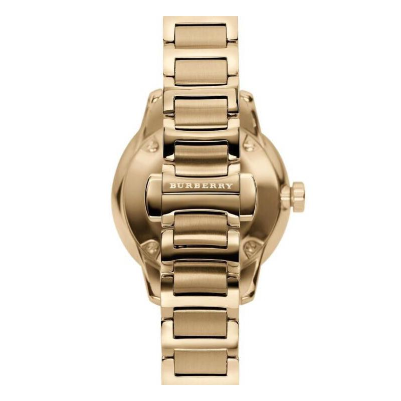 Ladies / Womens Gold The Classic Stainless Steel Burberry Designer Watch BU10109