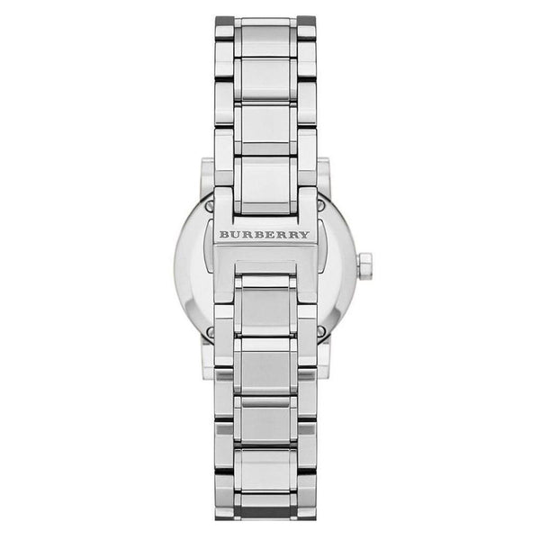Ladies / Womens Silver Swiss Stainless Steel Burberry Bracelet Designer Watch BU9200