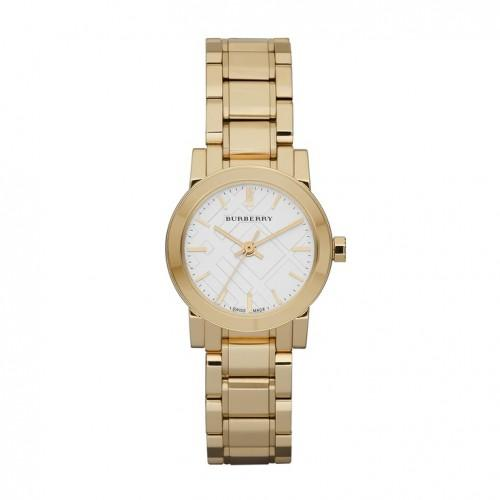Ladies / Womens Gold Ion Plated Stainless Steel Burberry Bracelet Designer Watch BU9203