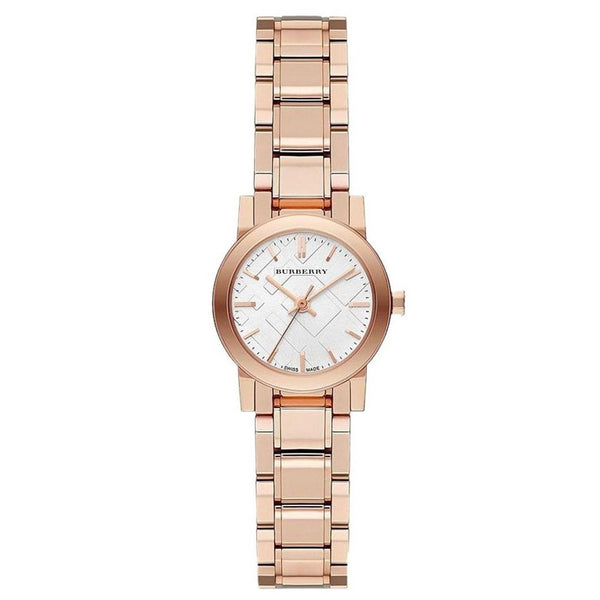 Ladies / Womens Swiss Rose Gold-Tone Stainless Steel Burberry Designer Watch BU9204