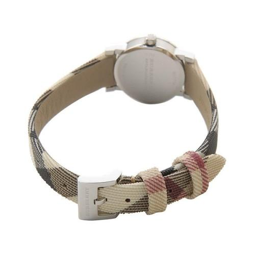 Ladies / Womens The Haymarket Check Fabric Strap Burberry Designer Watch BU9219