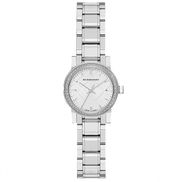 Ladies / Womens The City Diamond Stainless Steel Burberry Designer Watch BU9220