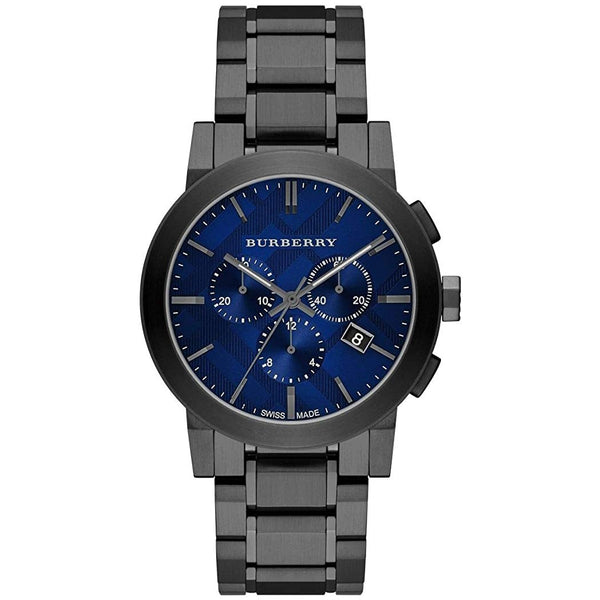 Mens / Gents Gunmetal Grey Ion Plated Chronograph Burberry Designer Watch BU9365